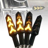 2 adet / takım Evrensel Motosiklet LED Dönüş Akış Sinyalleri Gösterge Işıkları Blinkers Flaşörler Amber Renk Aksesuarları Araba