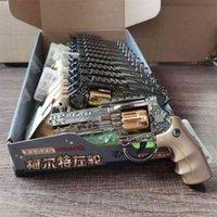 Qun yida 169-2 brinquedo educativo infantil arma elétrica luz luz pequena pistola revólver