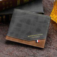 New Short Male Purse Card Holder Men Fashion PU Leather Business Wallet Multifunction Handbag Casual Wallets For Men 2021