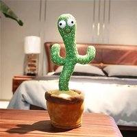 Dolls Cactus Plush Toy Electric Singing 120 Songs Dancing And Twisting Luminous Recording Learning To Speak birthday gifts creative ornaments
