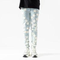 20ss Erkek Tasarımcı Kot Pantolon Sıkıntılı Yırtık Biker Slim Fit Motosiklet Denim Erkekler Için En Kaliteli Moda Jean Mans Pantolon Yayın Hommes # 13