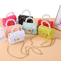 6 لون أطفال شل حقيبة الكورية نمط تنقش نمط حقيبة الطفل طفل الفتيات crossbody مصغرة سلسلة أكياس محفظة كيد 1851 Y2