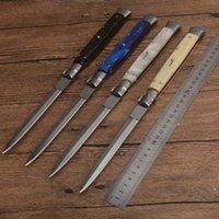 13-дюймовый итальянский Mafia автоматический нож автоматические тактические ножи 440C 58HRC сатин однополосный сплав ручка EDC охотничьи карманные ножи