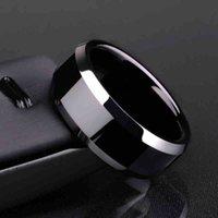 FactoryT523 подарок роскошь PS1702 дизайн кольцо мужские титановые черные