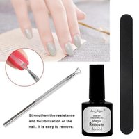 Professional Magic Nail Polish Remover Set Soak Off Nail Gel Polish Files Cuticle Pusher Art Cleaning Tools