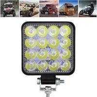 16-LEDワークライトバーフラッドライト車ATVオフロードドライビングフォグランプ12V / 24Vヘッドライトヘッドライト