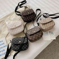 Mini monedero Moda bolsas de mano para niños Niños Niñas Bolso Bolsos Simple un hombro Messenger Bag Designer Pequeño cuadrado G503LMH