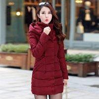 Women's Trench Coats ZOGAA 2021 4 Color Winter Fashion Casual Long Slim Thick Cotton Jacket Warm Down Coat Women S-3XL