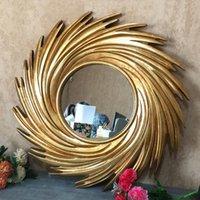 Specchi europeo in stile americano telaio trucco pettine specchio parete appeso decorativo nordico lavaggio creativo