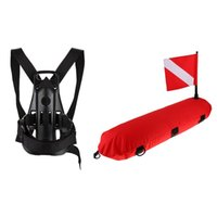 Pool & Accessories Inflatable Diving Signal Float Buoy Dive Flag Diver Down Banner With Scuba Back Holder