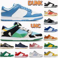 2021 Dunk UNC Erkekler Koşu Ayakkabıları Beyaz Siyah Sokak Hawker Tıknaz Dunky Üniversitesi Mavi Kırmızı Kaktüs Gölge Kadın Sneakers Erkek Eğitmenler