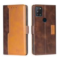 Cajas de funda de cuero retro de la billetera para Alcatel 1S 3L 2021 3x 2020 1SE 1V 1A 1B 3 2019 cubierta con magnético