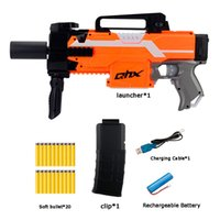 Automatic Electric Soft Bullet Toy Gun Launcher Shotgun Outdoor Armas Orange Plastic Machine CS Shooting Game