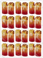 Mens Rudy Gobert 27 Donovan Mitchell 45 Joe Ingles 2 Royce O'Neale 23 Personalizar cidade Laranja Edição Hot Press Press Basketball Camisas Pants Calças
