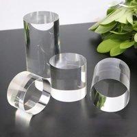 Joyería acrílica Ronda de joyería Mostrar Cosméticos Plataforma Riser Pad Pack Bolsos de anillo, bolsas