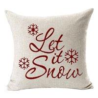 45 * 45 سنتيمتر عيد الميلاد ندفة الثلج وسادة يغطي الكتان السنة الجديدة أريكة رمي وسادة القضية عيد الميلاد الديكور وسادة غطاء حزب ood6037