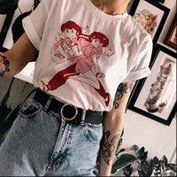 Tops para mujer VIP HJN RANMA 1 2 Manga japonés Camiseta Mujeres 90s Kawaii Grunge Estética Blanco Tee Hipsters Lindo