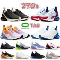 Yeni 270s Erkekler Koşu Ayakkabıları ABD Beyaz Kraliyet Serin Gri Mavi Fury Siyah Kemik Çay Berry Platin Volt Seattle Uzak Erkek Kadın Sneakers