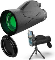 Telescópio monocular para adultos crianças, 12x42 alta potência monocular com suporte de smartphone e tripé, hd impermeável monocular