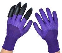 Садовые перчатки садовые инструменты Водонепроницаемый дышащий домохозяйственный все сезоны садовые перчатки с когтями FFOR FFOR FORCED посадка просачивания HH21-196