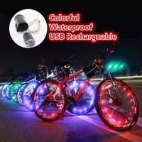 Bike Lights LED Colorful Bicycle Cycling Wheel Tire Spokes Light USB Rechargeable Waterproof Night Safety Riding MTB