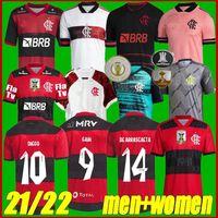 Taille S-3XL 2021 Camisa Flamengo Soccer Jersey 2022 Camisetas de Fútbol Gabriel B. Diego 21 22 Pedro Gerson de Arrascaetao Shirt de football