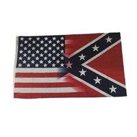 NUOVO 90 * 150 cm Bandiera americana e confederata Rebel War War Decorazione per esterni Banner in poliestere Accessori all'ingrosso