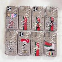 G Coques de téléphone des concepteurs pour iPhone 12 Mini 11 PRO Max XS XR x 7 8 Plus Couvercle avec carte portefeuille de cartes Samsung S20 S21 Note 20
