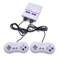 Nostalgique jeu joueur hôte Super SNES 21 mini téléviseur HD Console vidéo 16 bits double poignée, support gris pour le téléchargement et la sauvegarde