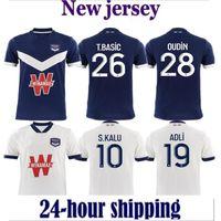 21 22 Girondins Bordeaux Home Fussball Jersey 2021 2022 weg Fußball Hemd Thailand Qualität MAILLOT FOUT CAMISETA DE FÜNDBOL