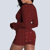 Jumpseau pour femmes Rompers 2021sexy Streetwear Soyez-lui imprimer des manches longues Femmes Body Sexy Body Taille Femme Couve Mock Cou Tour Himal Fit Fashi