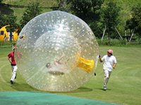 Customized Water Body Zorb 3M Dia Inflatable Grass Ball PVC Human Size Giant Hamster Ball For People Go Inside Outdoor Exciting Hill Rolling Game With Air Pump