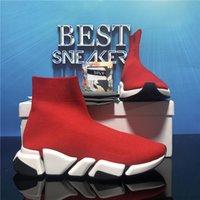Calcetines para hombre de primera calidad Calcetines de zapatos casuales Zapatillas de deporte Zapatillas de deporte Negro Red Triple S Fashion Flat Sock Boots Speed Sneaker Runner Entrenadores