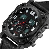 Relógios de pulso Homens Waterproof ASJ Semanal Alarme Multifuncional Cinto de Quartzo Eletrônico WatchsRxf