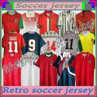 1994 1995 1996 Gales Retro Soccer Jersey 95 96 Giggs Hughes Saunders Rush Boden Velocidade Vintage Camisa de Futebol Clássico