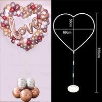 Hjärta ballong står 1set för fest dekor hem bröllop födelsedag baby shower cirkel hållare kolumn ballonger båge leveranser