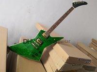 custom gib electric guitar,green guitar,craem binding,fixed bridge,golden knobs,mahogany body