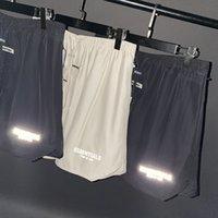 Nebbia uomo e donne Pantaloncini per fitness riflettenti intrecciati intrecciati Casual Hip-Hop Essentials And Dressy Moda Pantaloni a cinque punti WGKZ12