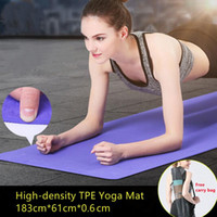 Yoga Mats TPE Mat Set Anti-skid Sports Fitness 6MM Thick Comfort Gym Pad For Exercise,Yoga,and Pilates Gymnastics