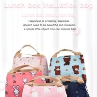 Storage Bags 50LB Portable Cartoon Printing Lunch Bag Thermal Insulated Box Tote Cooler Handbag Bento Pouch Dinner Container