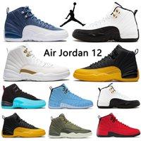 2021 12 12s Jumpman Hombres Mujeres Zapatos de baloncesto Dark Concord Sports Sports Sneakers Entrenadores Juego de gripe Gold Aniversario Criado # 854H73G #