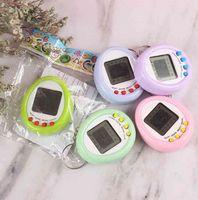 Novedad Niños Macarrón Mini Máquina de Mascotas Electrónica Máquina de juego Llavero Colgante Multicolor Niños Juguetes G40IDBQ