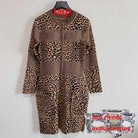 Moda donna Abiti Casual Leopard Stampa Leopardo Skirt Skirt manica lunga Abito elegante Abito elegante 2021FW Lady Party Gonne