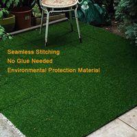 30 * 30 سنتيمتر قاطع ديكورات حديقة العشب الاصطناعي يمكن تقسيم لا الغراء الصديقة للبيئة البلاستيك من البلاستيك للسجاد الأخضر المنزل