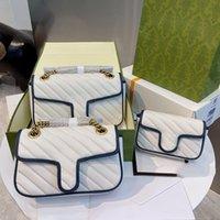 Diseñador Crossbody Bolsa Bolsos de hombro Cuerpo de lujo Cuerpo de alta calidad Cadena de oro de cuero genuino 17 Diferentes colores Estilos con la caja original Varios Tamaño