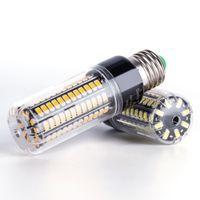 Алюминий светодиодный мозоль света E27 лампы E14 светодиодные лампы 5736 SMD 28 40 72 108 132 156 189 светодиодов свеча лампочки 220 В высокое освещение просвета 110 В