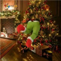 New Year The Thief Christmas Tree Decorations Grinch Stole Christmas Stuffed Elf Legs Funny Gift for Kid Christmas Ornaments