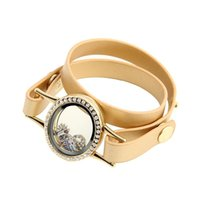 10pcs  lot Arrival Magnetic Floating Locket Bracelet Twist Leather Unisex Bangles Link, Chain