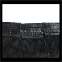 Produits Drop Drop Livraison 2021 Ruban invisible Remy Human Hair Clip dans des extensions 20pcs 100g 12 14 16 18 20 22 24 26Inch Séatellotte droite