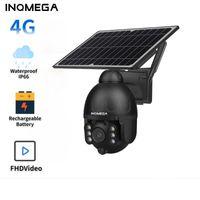 Открытый 4G солнечная камера WiFi Беспроводная безопасность Съемный аккумулятор CCTV видеонаблюдения Smart Monitor IP Cameras